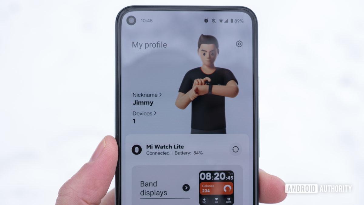 xiaomi mi watch lite review tela inicial do aplicativo xiaomi wear