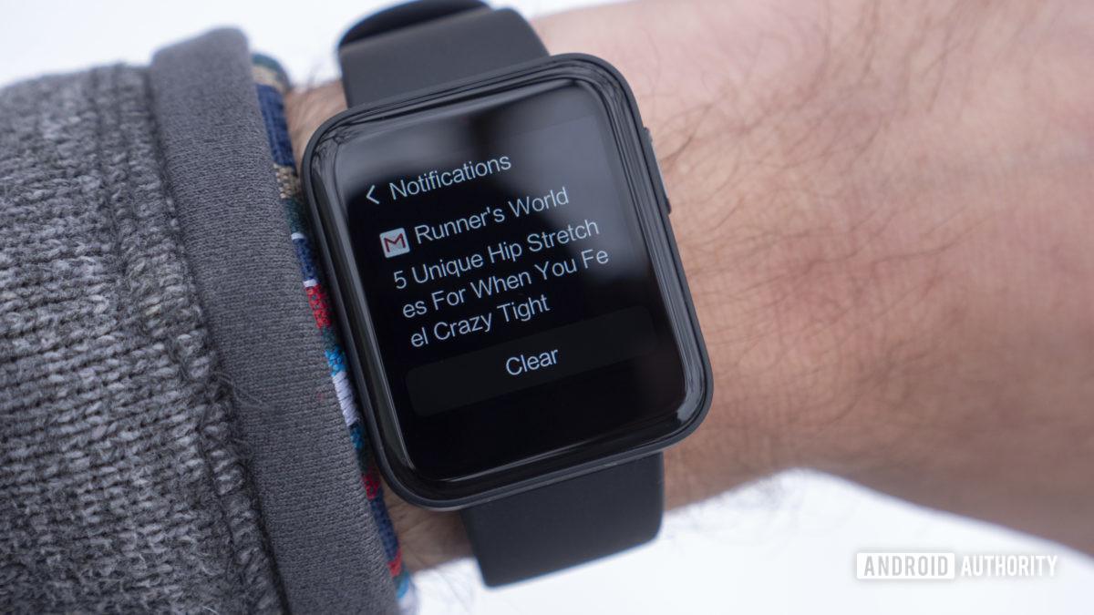 xiaomi mi watch lite review notificações no pulso e-mail gmail