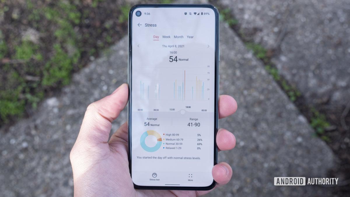 Huawei Band 6 analisa a variação da frequência cardíaca do aplicativo de saúde huawei