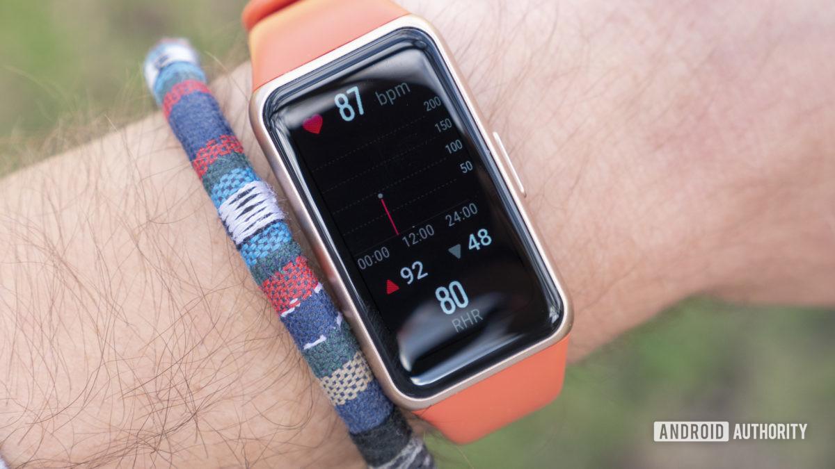 Huawei Band 6 analisa dados de suspensão do aplicativo de saúde huawei
