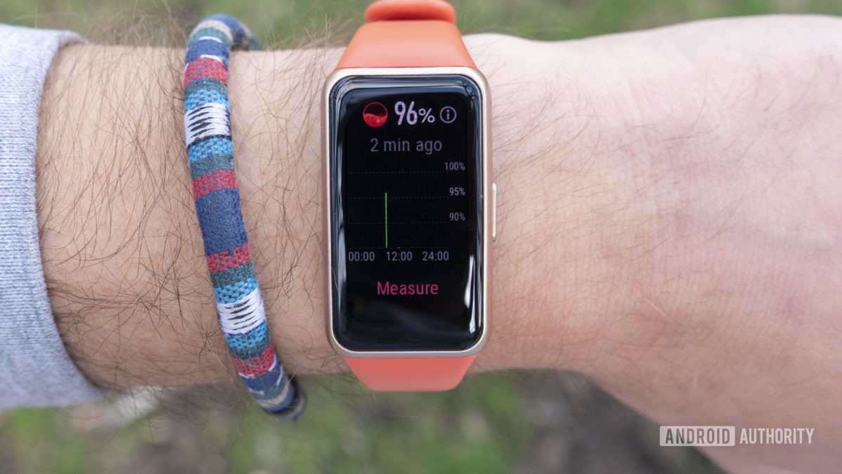 Huawei Band 6 analisa spo2 de oxigênio no sangue