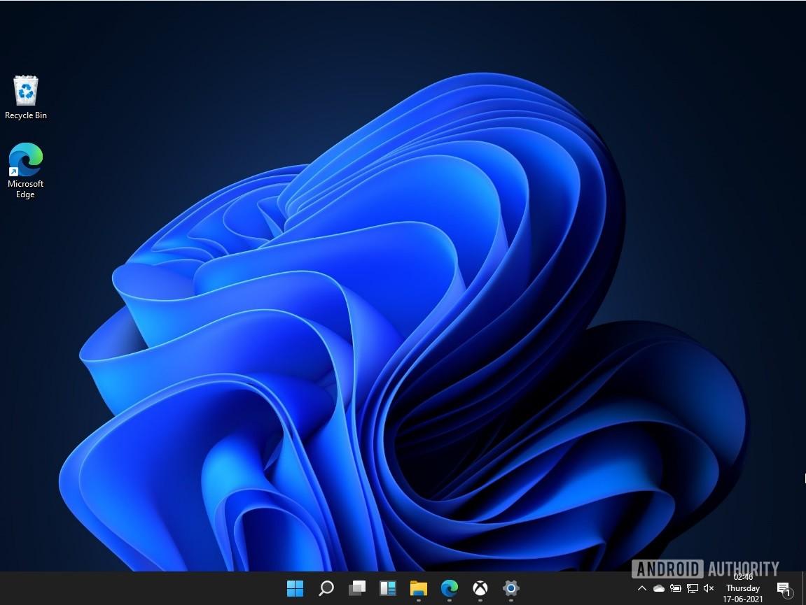 Tela inicial do Windows 11