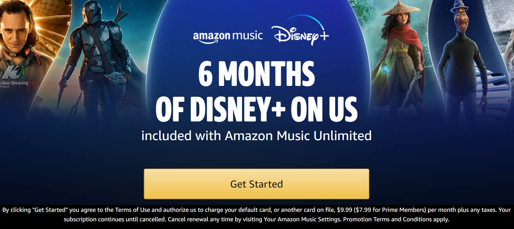 Amazon Music e Disney Plus Promo Image 1