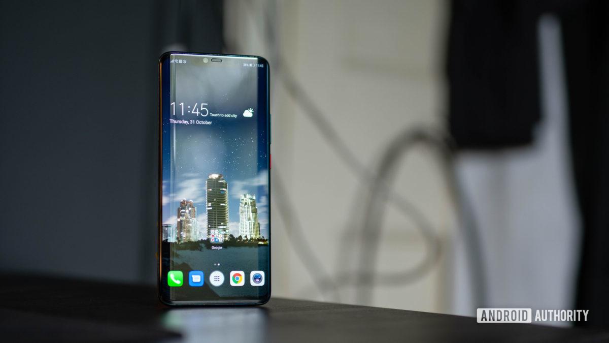 Captura ampla da tela inicial do Huawei Mate 20 Pro