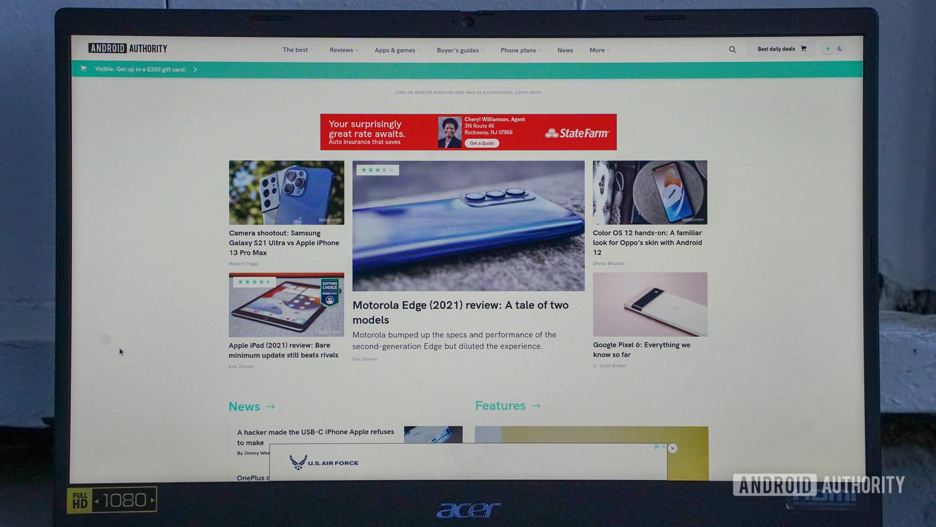 Tela Acer Chromebook 515