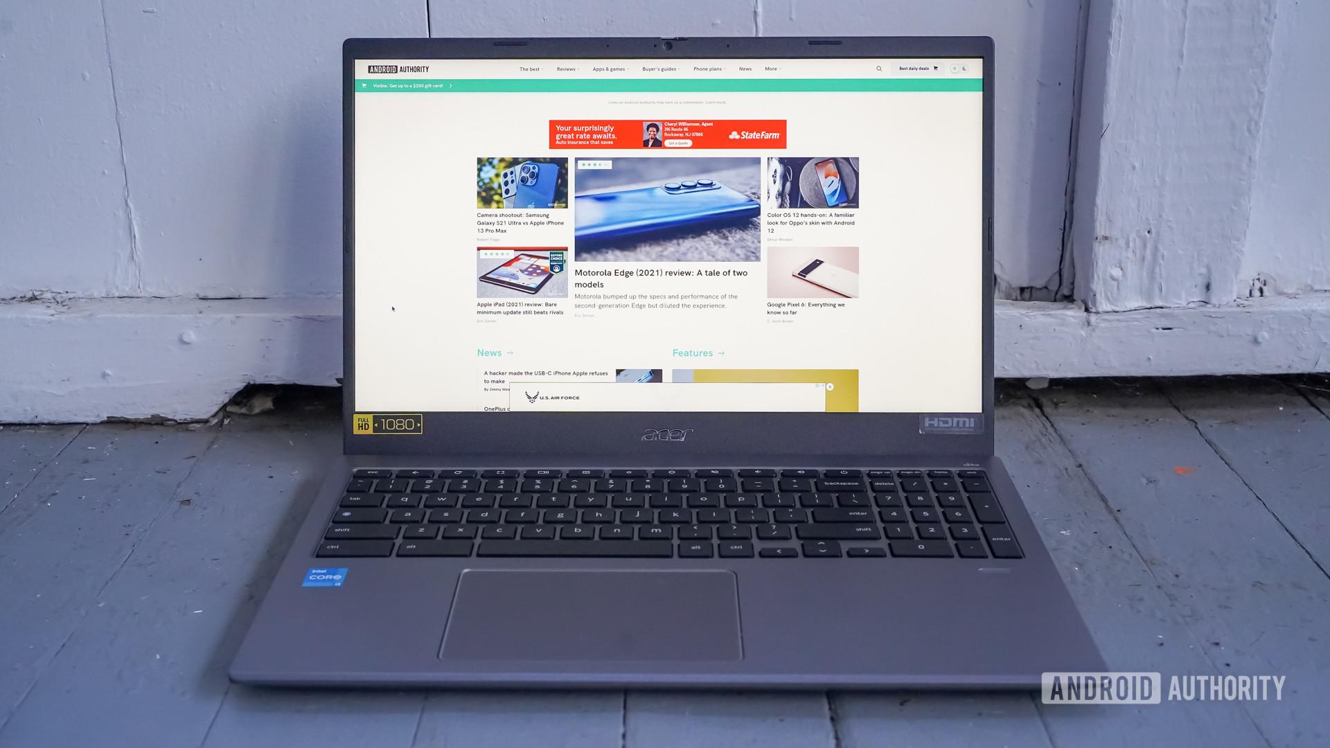 Tela e teclado Acer Chromebook 515